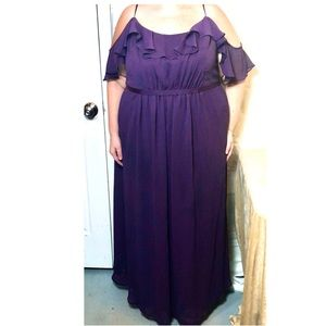 David's Bridal Floor Length Dress